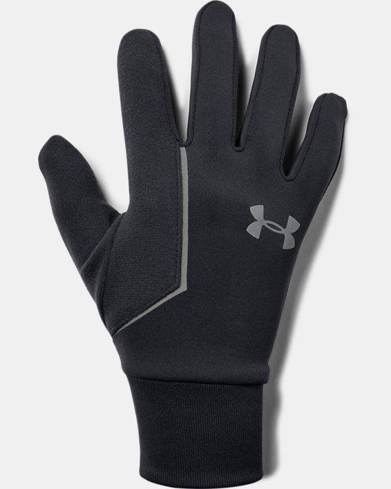 Men's UA Storm Run Liner Gloves, Black, pdpMainDesktop image number 0
