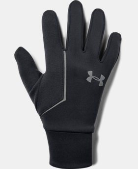 Best Seller Men's UA Storm Run Liner Gloves  2  Colors Available $30