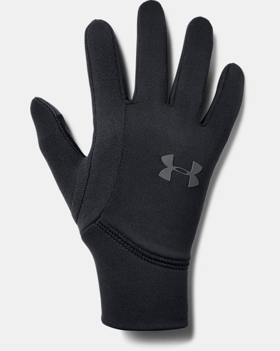 Boy's UA Armour Liner 2.0 Gloves, Black, pdpMainDesktop image number 0