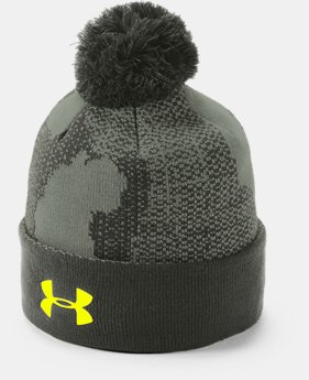 Boy's UA Pom Beanie  4  Colors Available $25