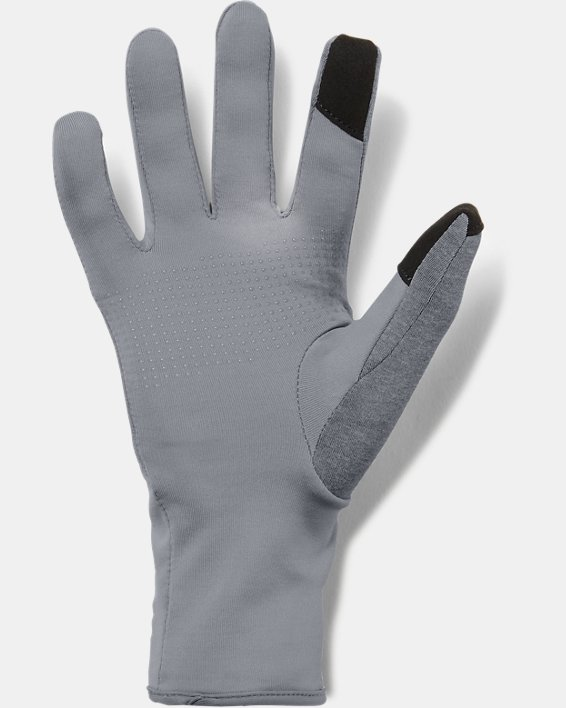 Women's UA Liner Gloves, Gray, pdpMainDesktop image number 1