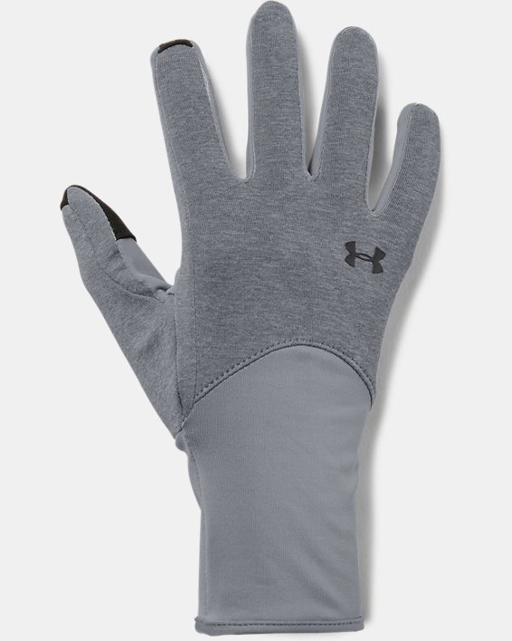 Women's UA Liner Gloves, Gray, pdpMainDesktop image number 0