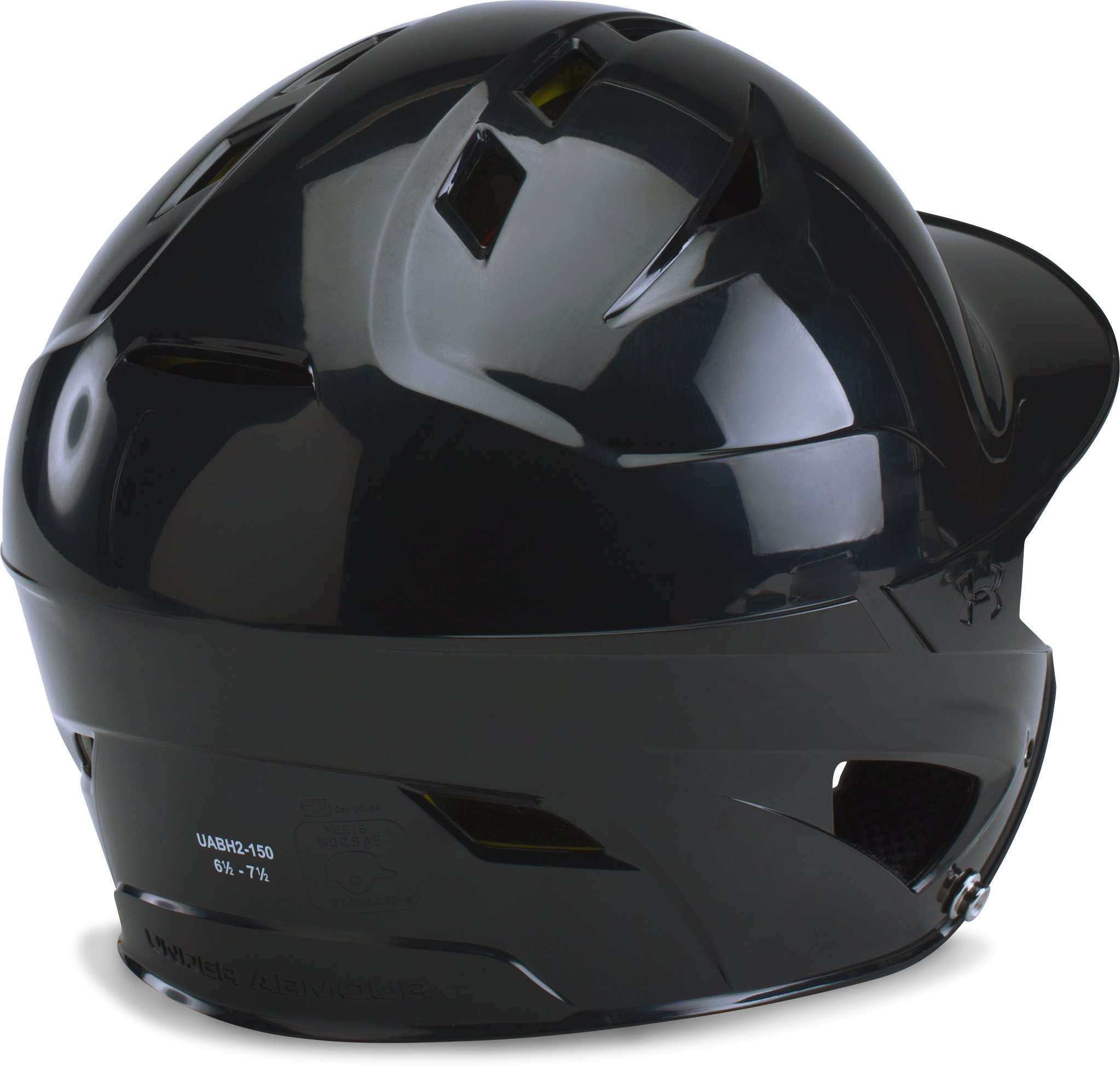 Men's UA Converge Batting Helmet, Black ,