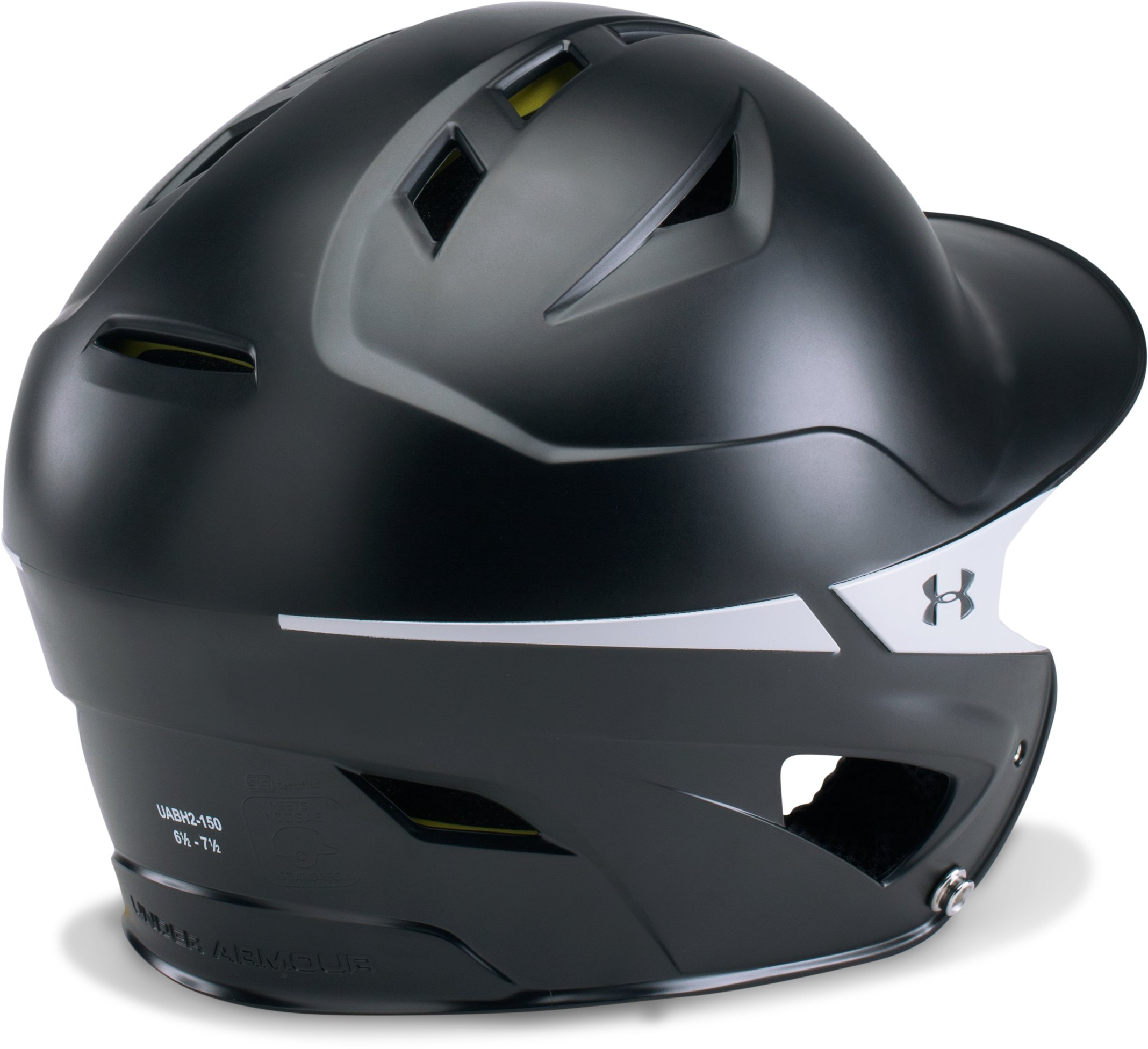 Men's UA Converge Batting Helmet Two Tone, Black ,