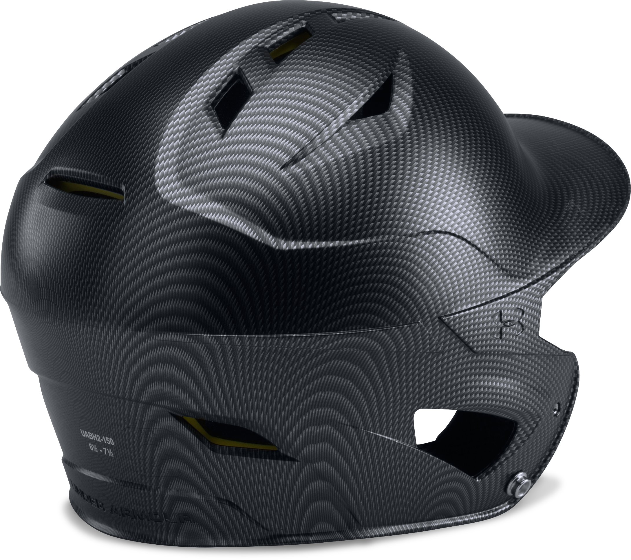 Men's UA Converge Batting Helmet Carbon Tech, Black ,
