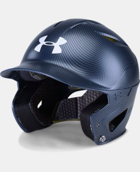 New to Outlet Men's UA Converge Batting Helmet Carbon Tech  1 Color $44.99