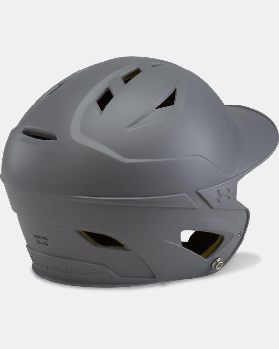 Boys' UA Converge Batting Helmet Matte, Gray, pdpMainDesktop image number 1
