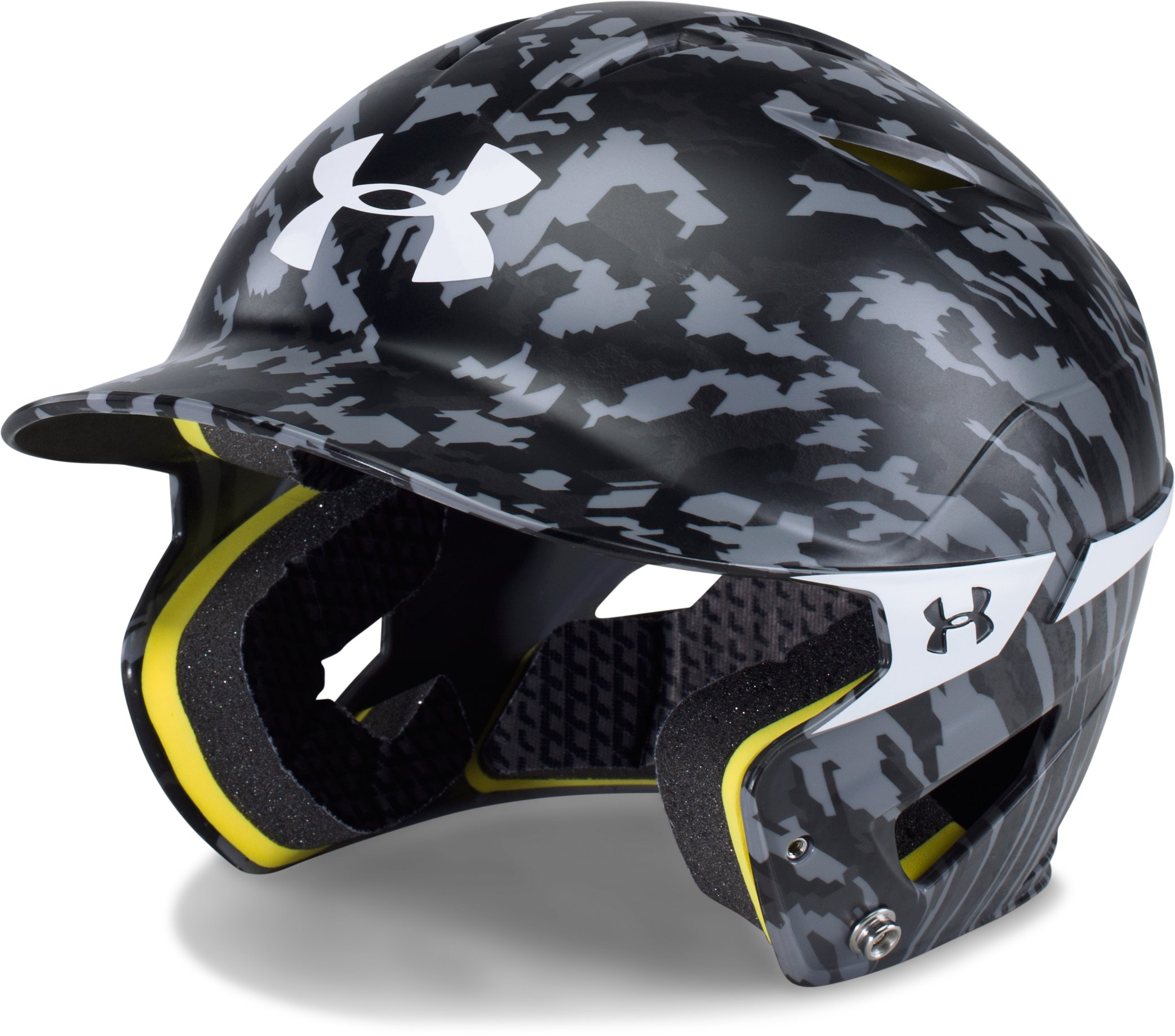 Boys' UA Converge Batting Helmet, Black , zoomed image