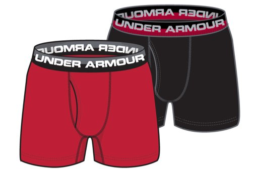 Boys' UA Original Series Boxerjock® 2-Pack, Red, undefined