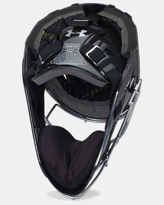 Boys' UA Victory Catcher's Helmet, Black, pdpMainDesktop image number 1