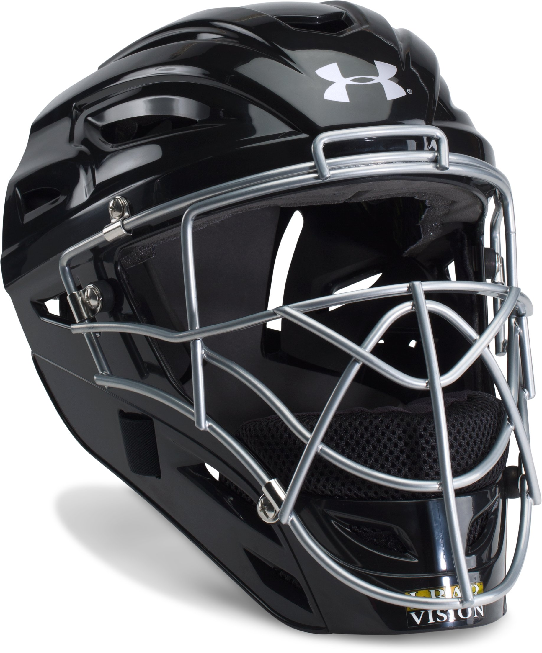 Boys' UA Victory Catcher's Helmet, Black , undefined