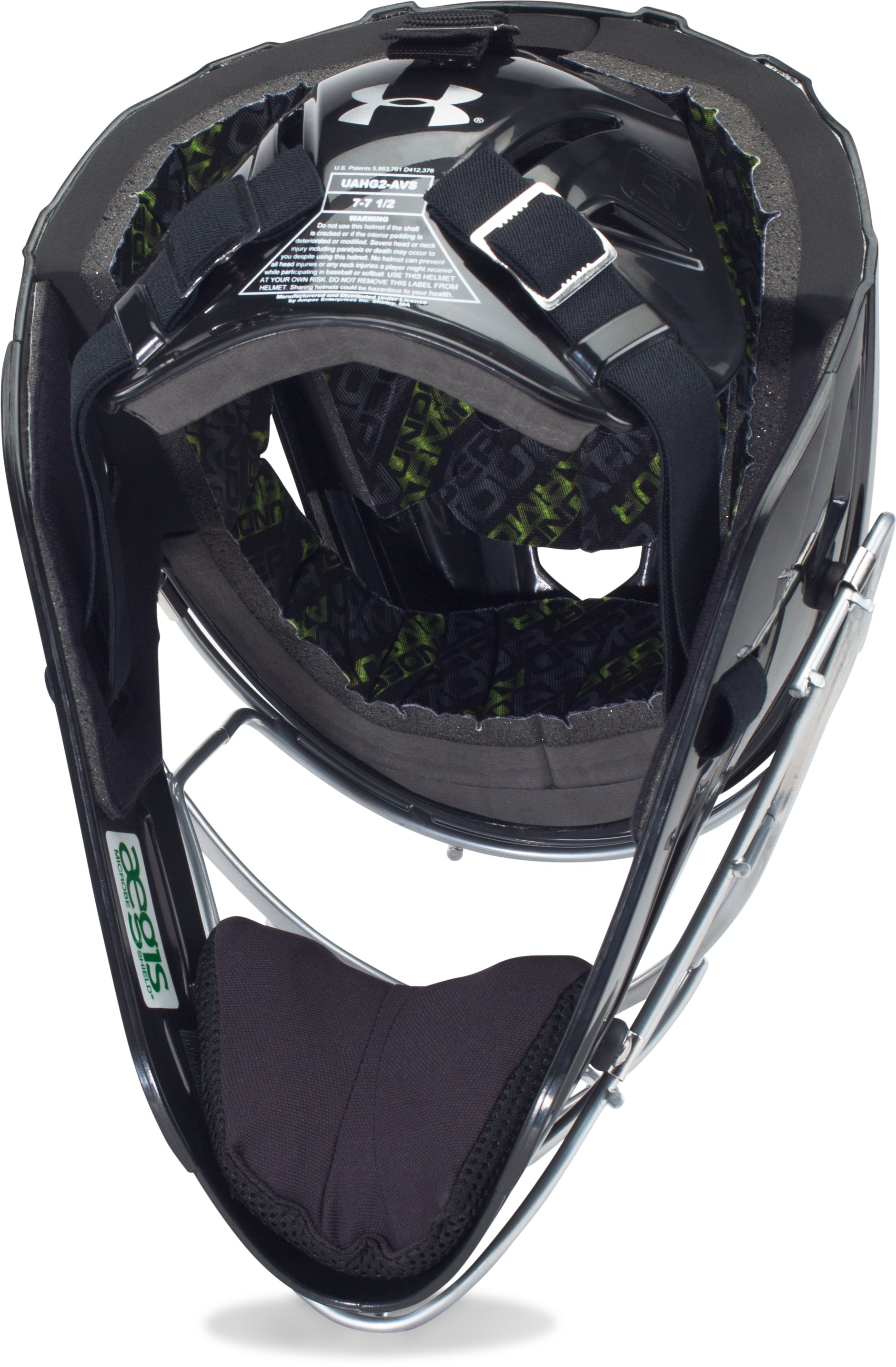 Men's UA Victory Catcher's Helmet, Black , undefined