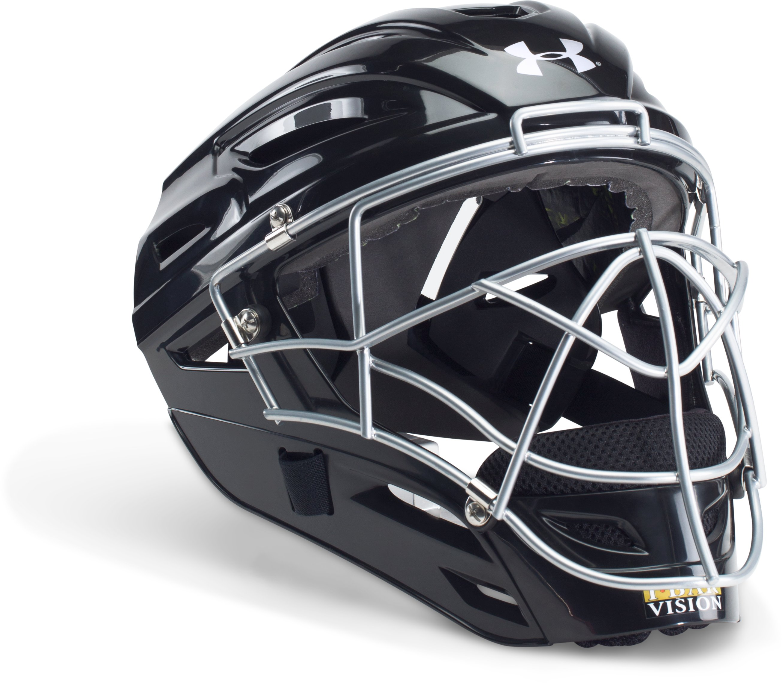 Men's UA Victory Catcher's Helmet, Black