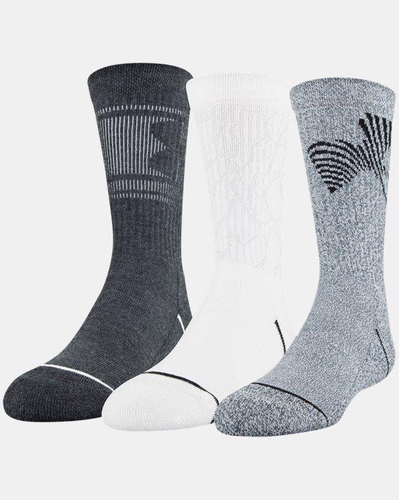 Boys' UA Crew – 3-Pack Socks, Gray, pdpMainDesktop image number 9
