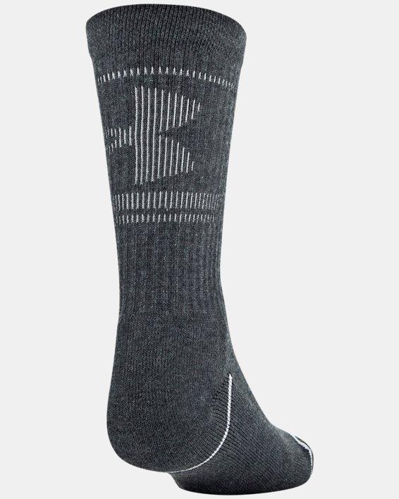 Boys' UA Crew – 3-Pack Socks, Gray, pdpMainDesktop image number 5