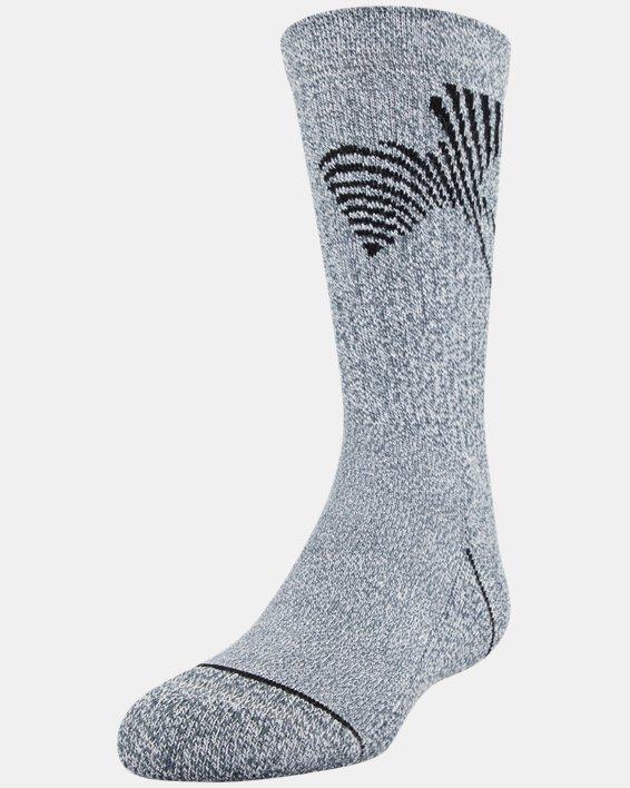 Boys' UA Crew – 3-Pack Socks, Gray, pdpMainDesktop image number 0