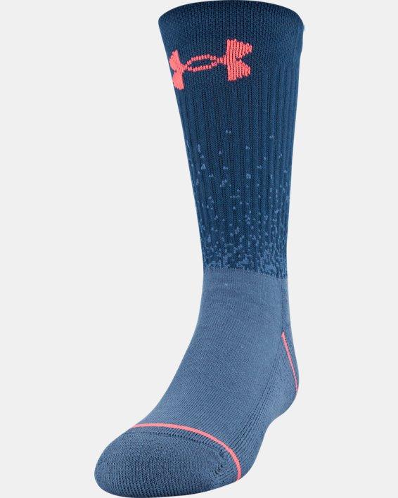 Boys' UA Crew – 3-Pack Socks, Blue, pdpMainDesktop image number 0