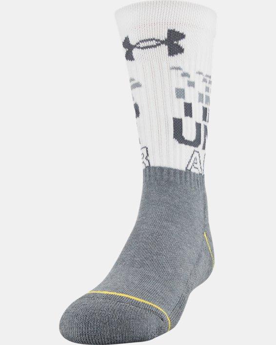 Boys' UA Crew – 3-Pack Socks, Blue, pdpMainDesktop image number 1