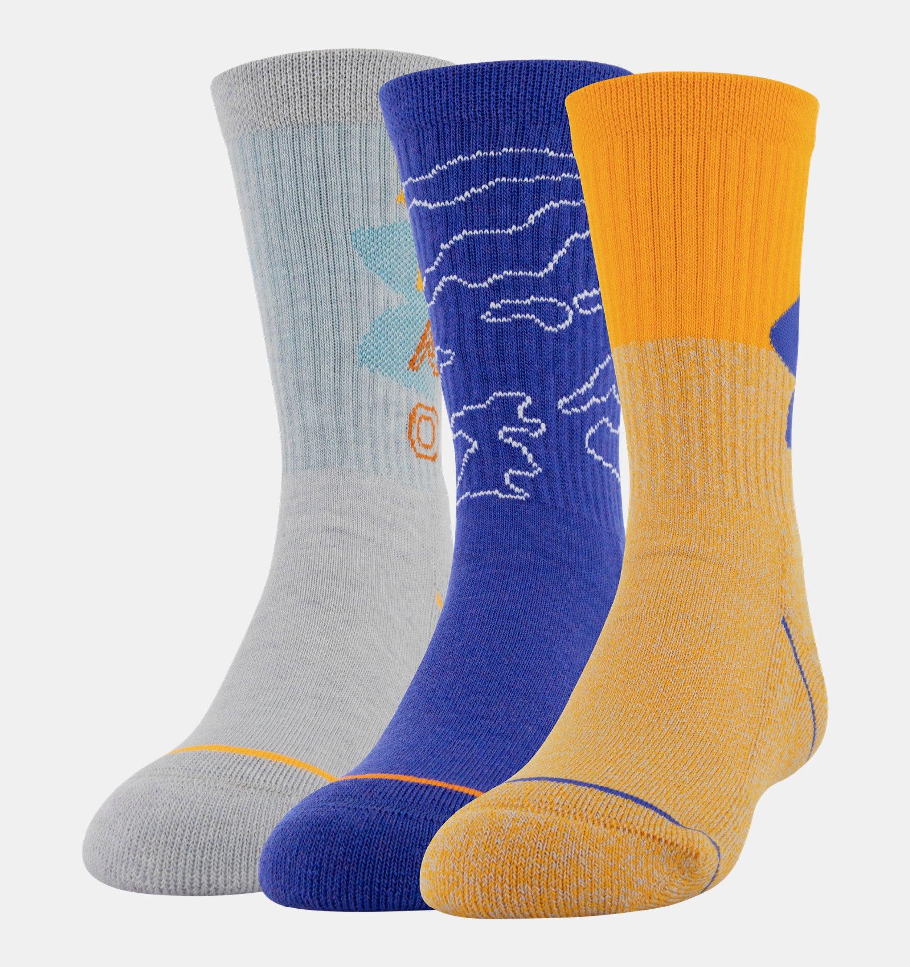 Underarmour Boys UA Phenom Crew Socks 3-Pack