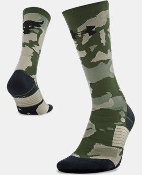 New Arrival Men's UA x Project Rock Unrivaled Crew Socks  2 Colors $19