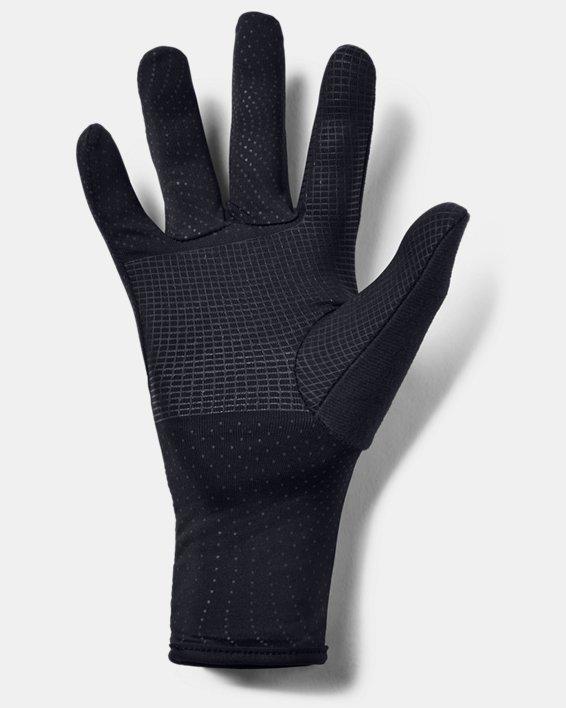 Women's UA Storm Run Liner Gloves, Black, pdpMainDesktop image number 1