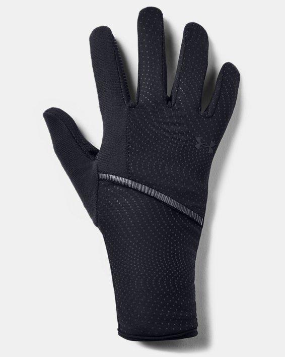 Women's UA Storm Run Liner Gloves, Black, pdpMainDesktop image number 0