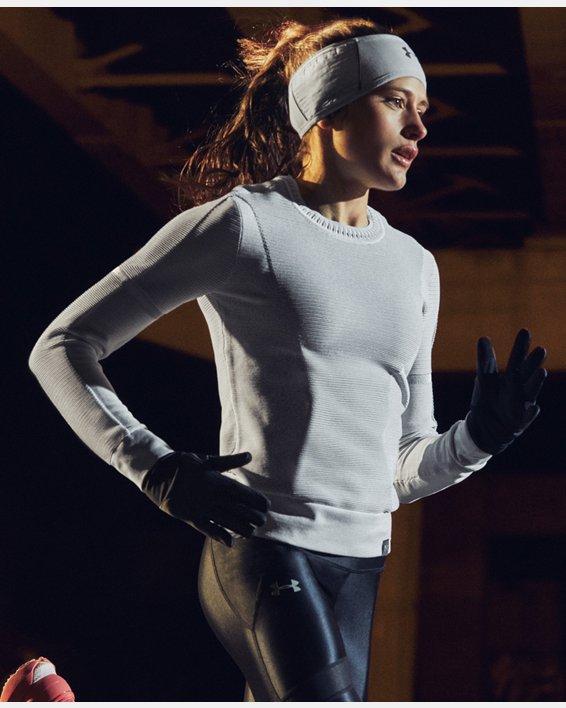 Women's UA Storm Run Liner Gloves, Black, pdpMainDesktop image number 2