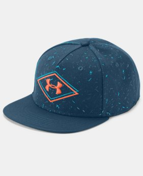 New Arrival Boy's UA Printed Flat Brim Cap  1  Color Available $25