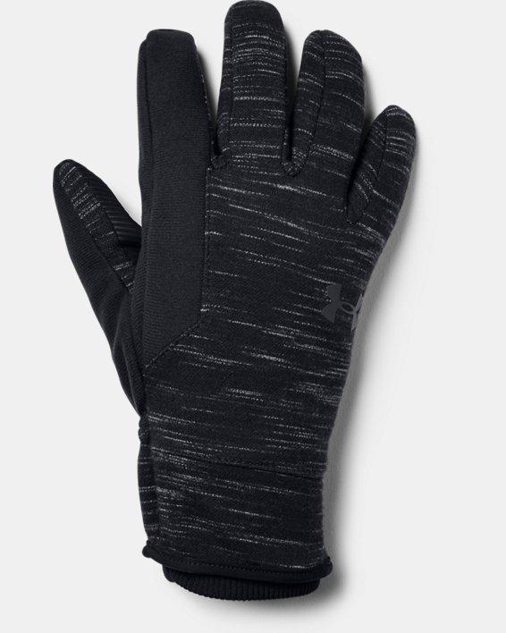 Men's UA Storm Fleece Gloves, Black, pdpMainDesktop image number 0