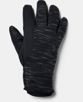 New Arrival Men's UA Storm Fleece Gloves  1  Color Available $40