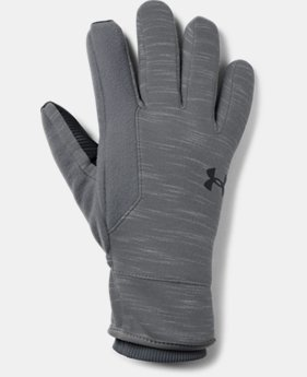 Best Seller Men's UA Storm Fleece Gloves  1  Color Available $40