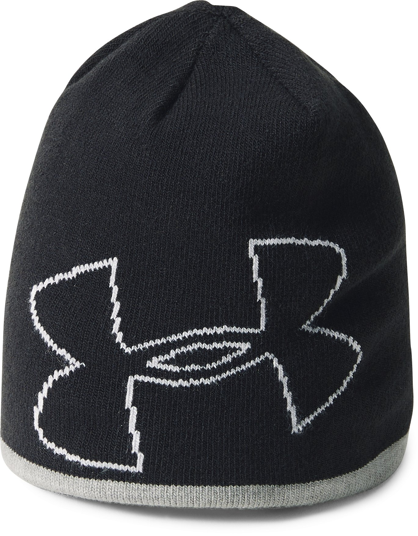 Boys' Pre-School UA Double Layer Reversible Beanie, Black ,