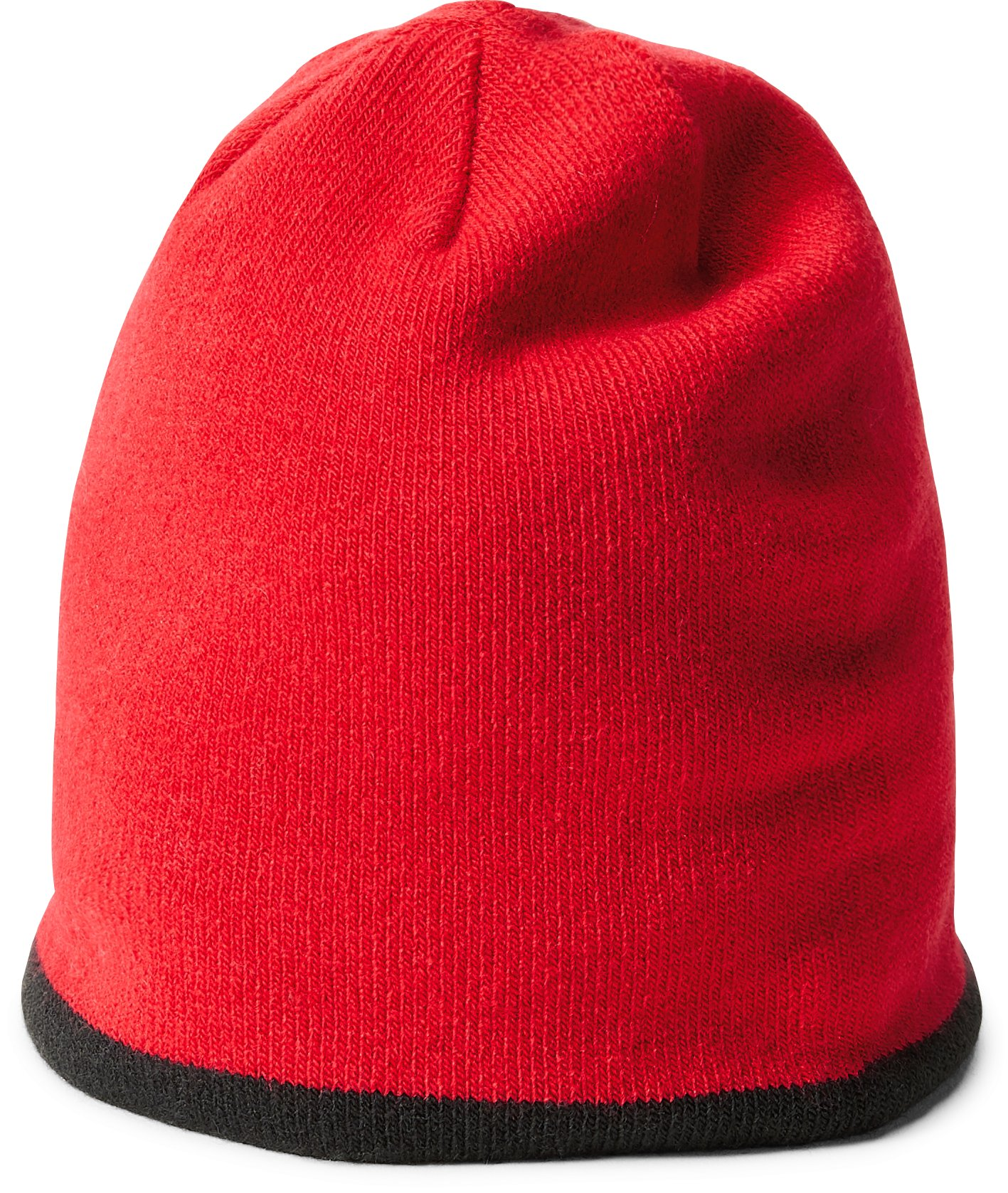 Boys' Toddler UA Double Layer Reversible Beanie, Red,