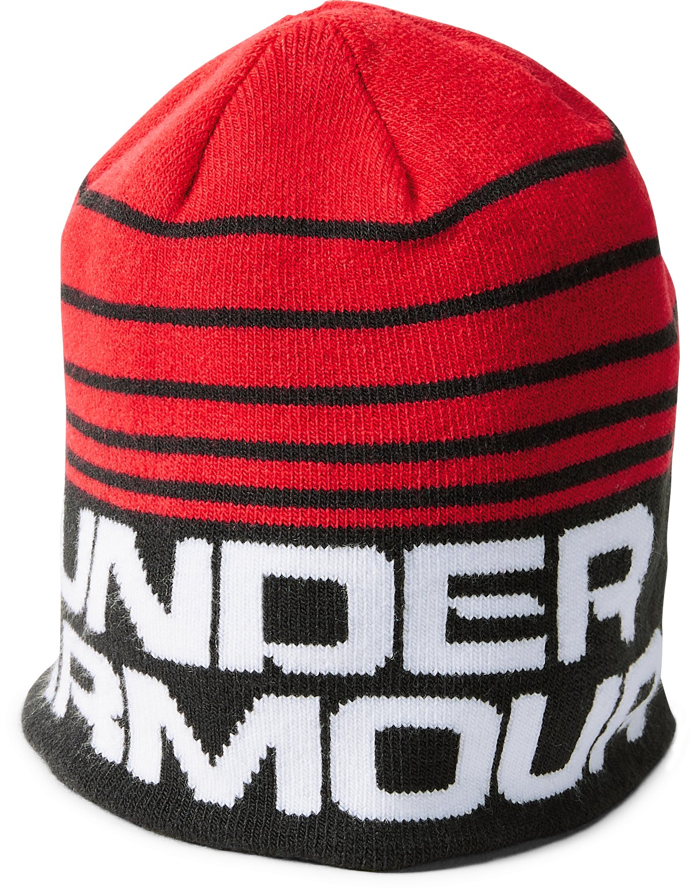 Boys' Toddler UA Double Layer Reversible Beanie, Red, undefined