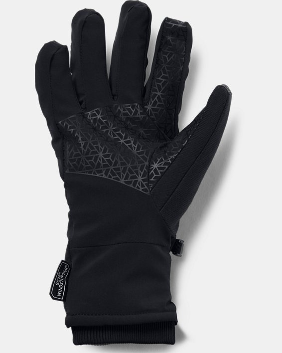 Men's UA Storm WINDSTOPPER® 2.0 Gloves, Black, pdpMainDesktop image number 1
