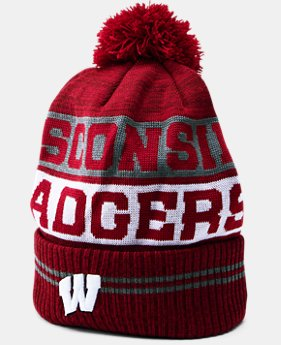 New Arrival Men's Wisconsin UA Pom Beanie  1 Color $34.99