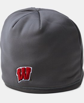 Men's Wisconsin UA Storm ColdGear® Infrared Beanie  1  Color Available $29.99