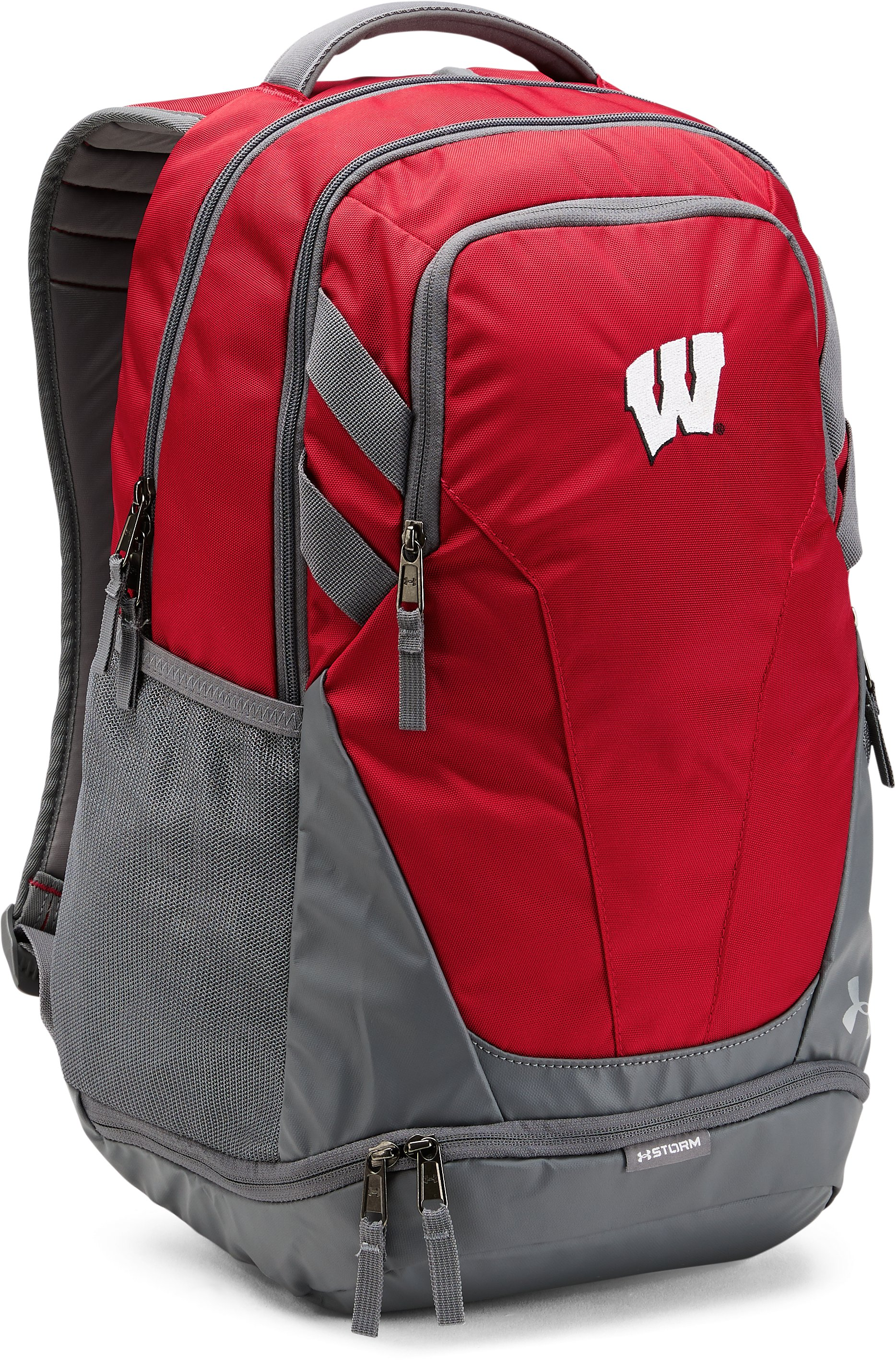 Wisconsin UA Hustle 3.0 Backpack, Flawless