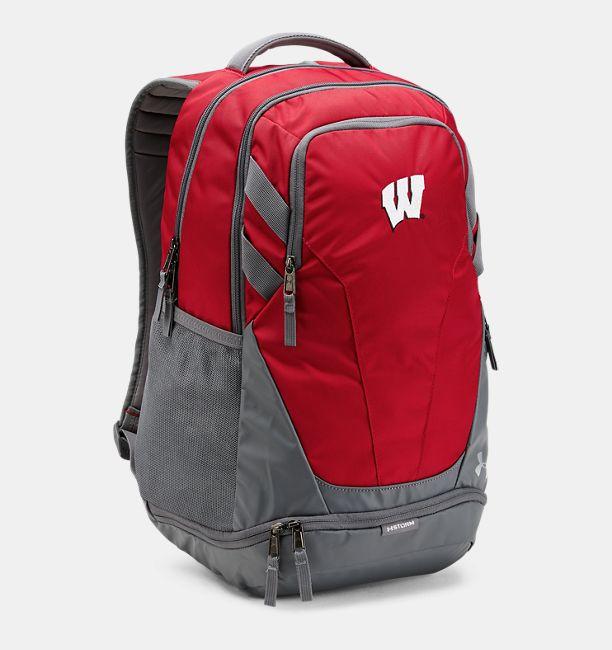 cff6ed7687 Wisconsin UA Hustle 3.0 Backpack