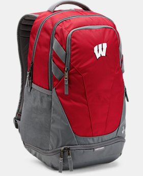 Wisconsin UA Hustle 3.0 Backpack  1 Color $69.99