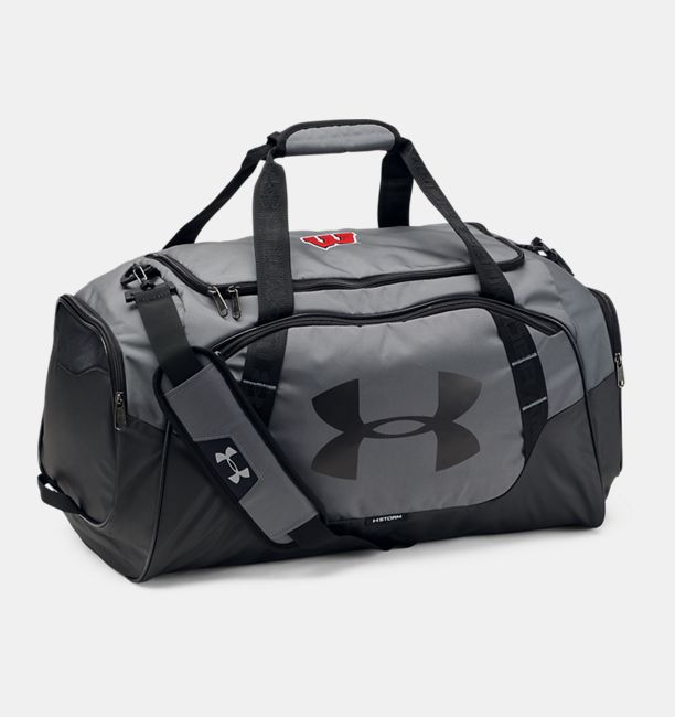 613245d9a892 Men s Wisconsin UA Undeniable 3.0 Medium Duffle Bag