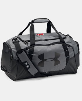 New Arrival Men's Wisconsin UA Undeniable 3.0 Medium Duffle Bag  1 Color $69.99