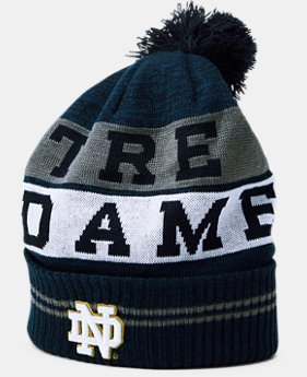 New Arrival Men's Notre Dame UA Pom Beanie  1 Color $34.99