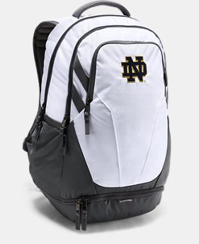 New Arrival Notre Dame UA Hustle 3.0 Backpack   $69.99