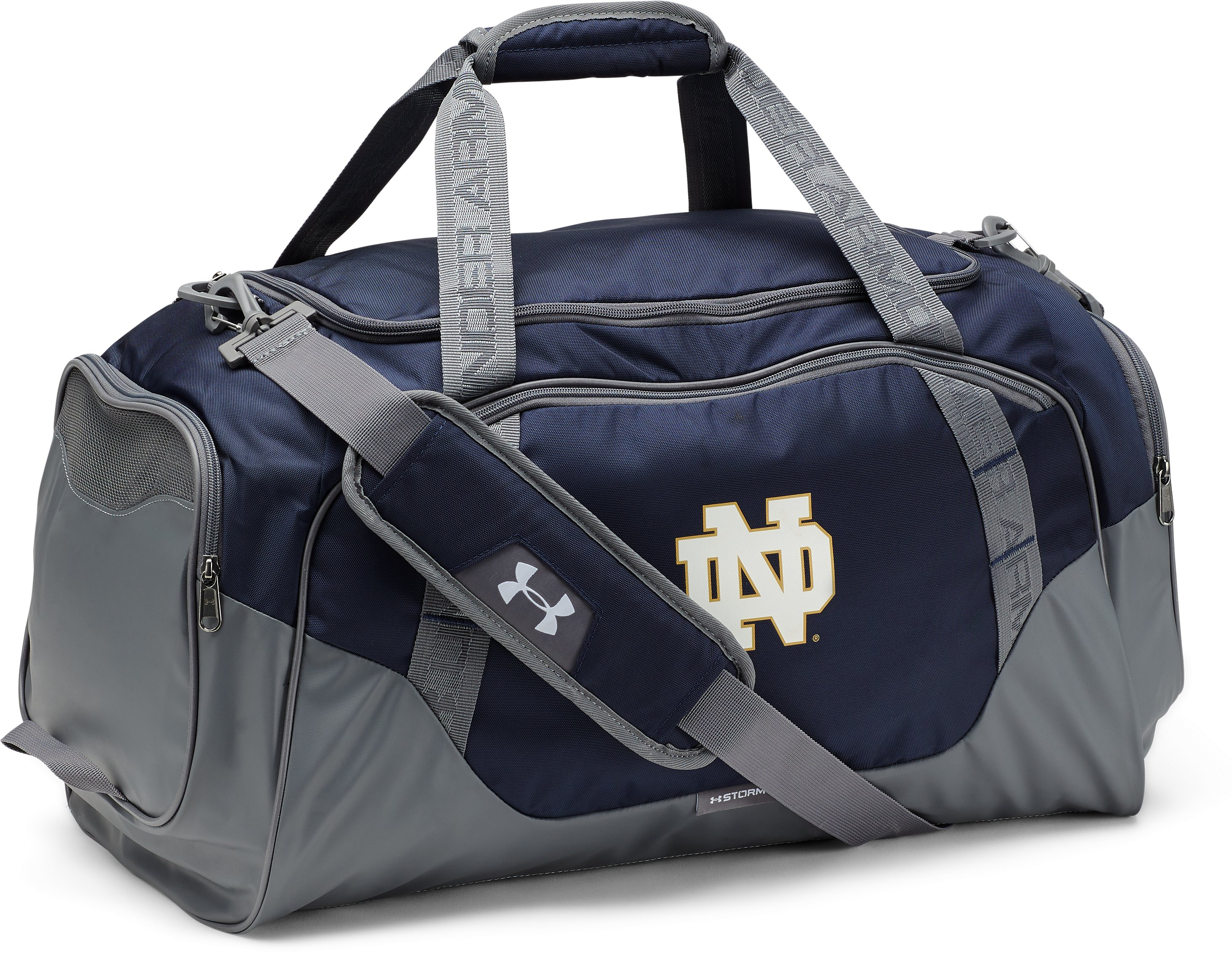 Notre Dame UA Undeniable 3.0 Medium Duffle Bag, Midnight Navy,