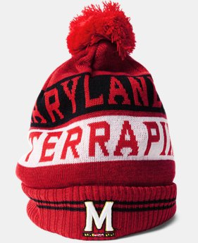 New Arrival Men's Maryland UA Pom Beanie  1 Color $34.99