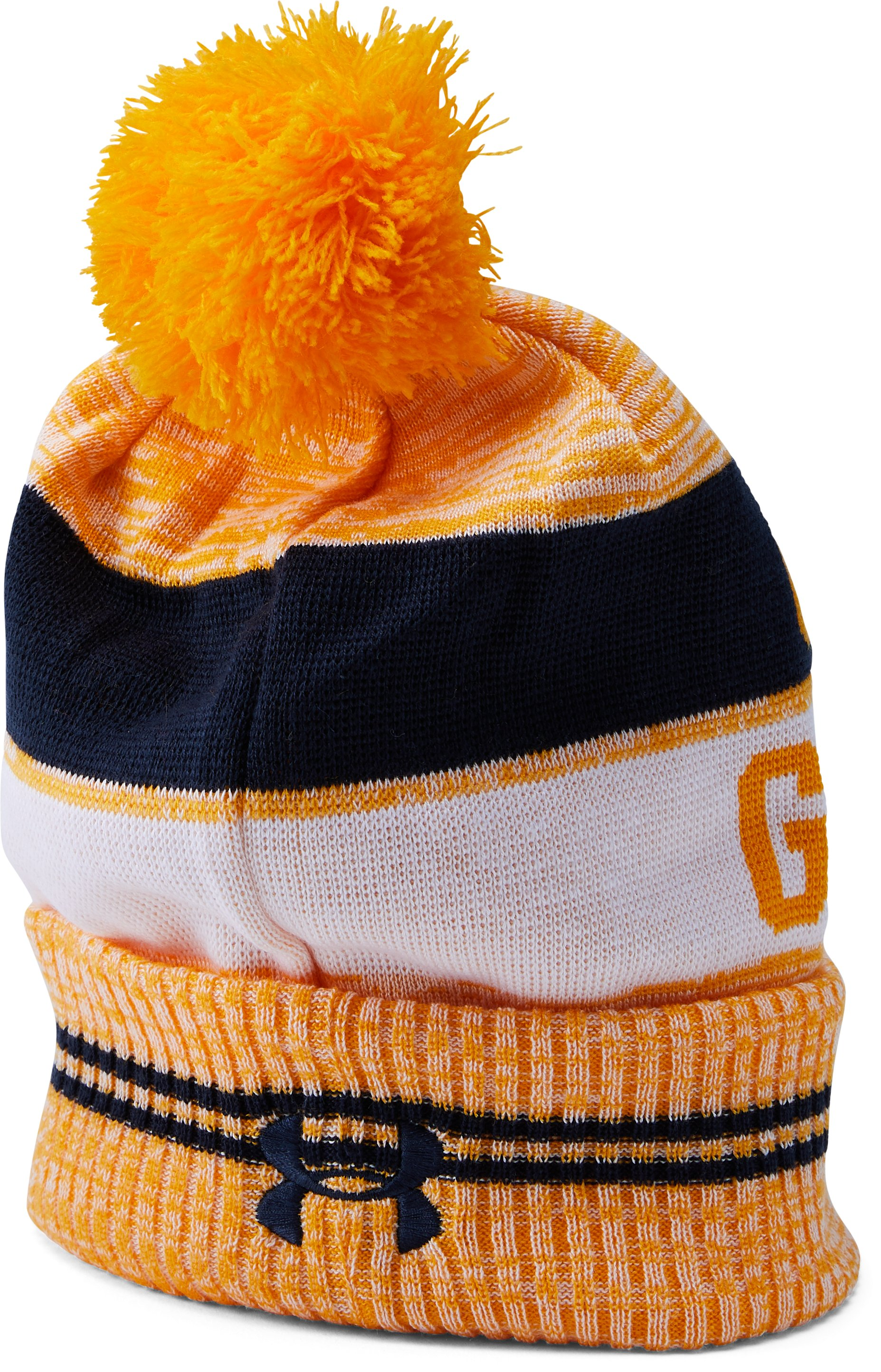 Men's Cal Bears UA Pom Beanie, Steeltown Gold,