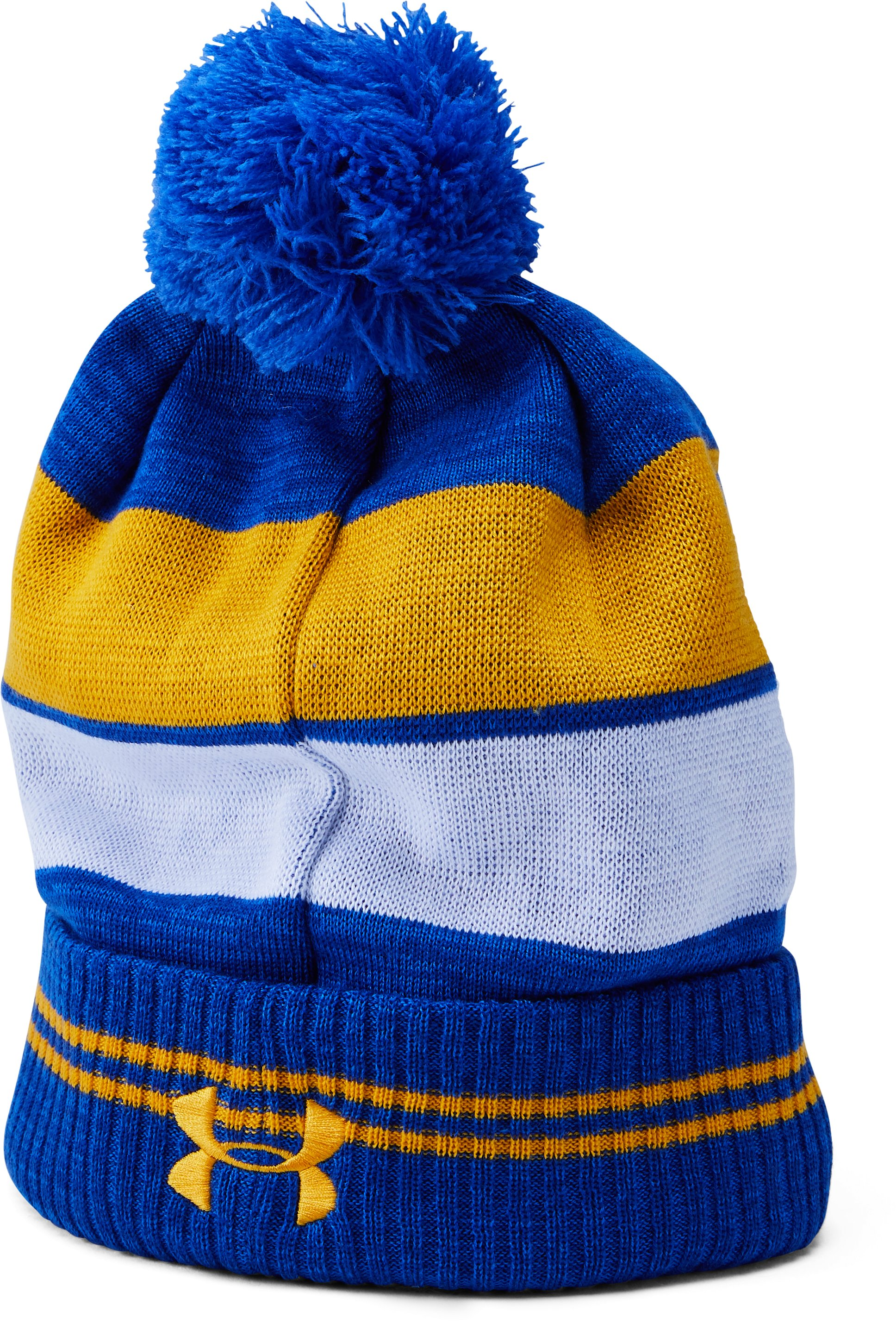 Men's UCLA UA Pom Beanie, POWDERKEG BLUE, undefined