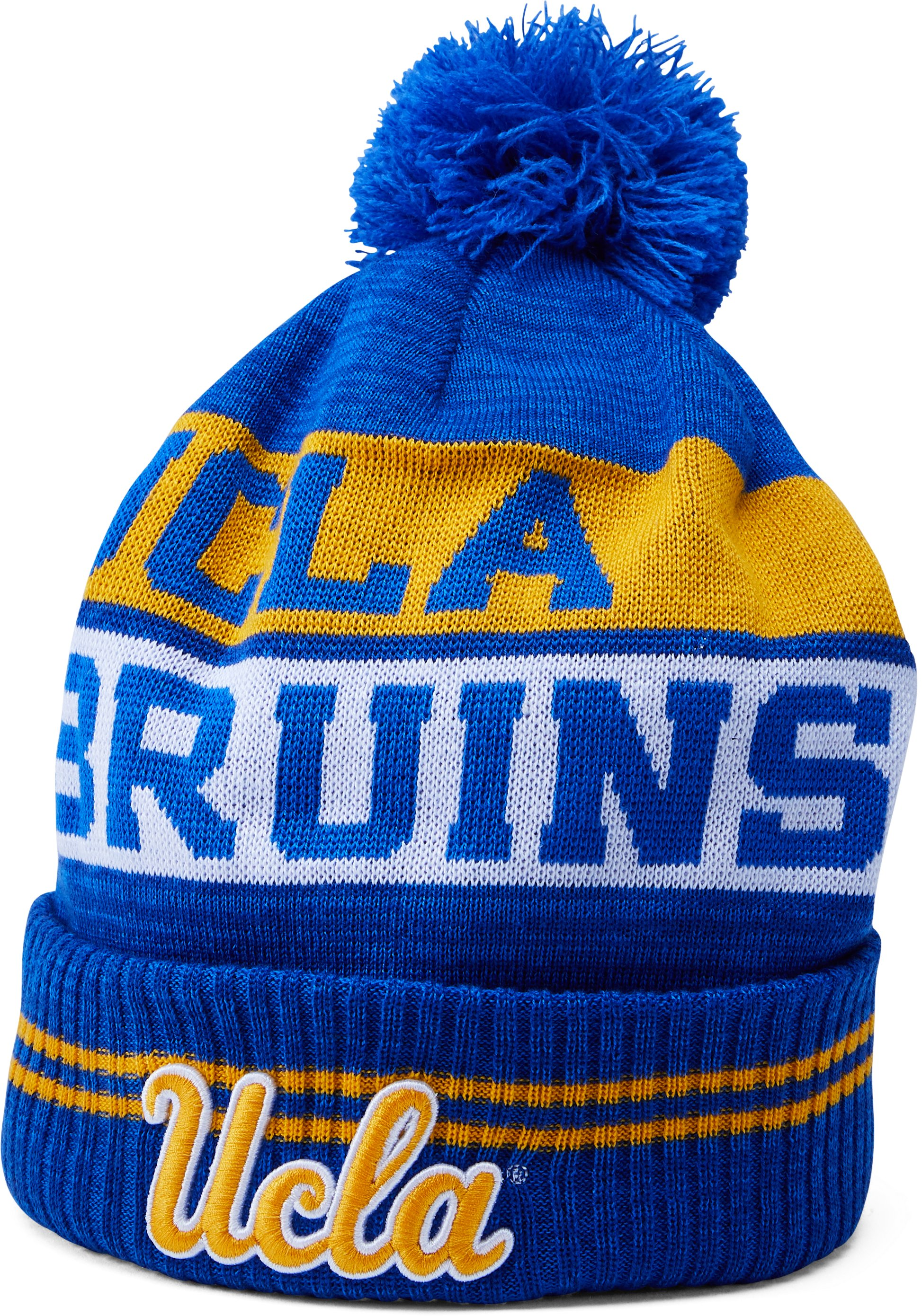 Men's UCLA UA Pom Beanie, POWDERKEG BLUE