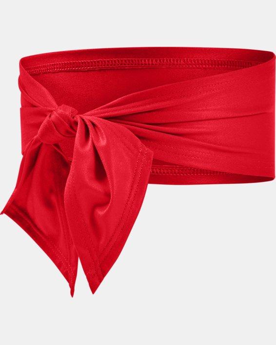 Adult UA Armour Tie Headband, Red, pdpMainDesktop image number 1